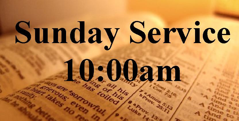Sunday Service at 10:00